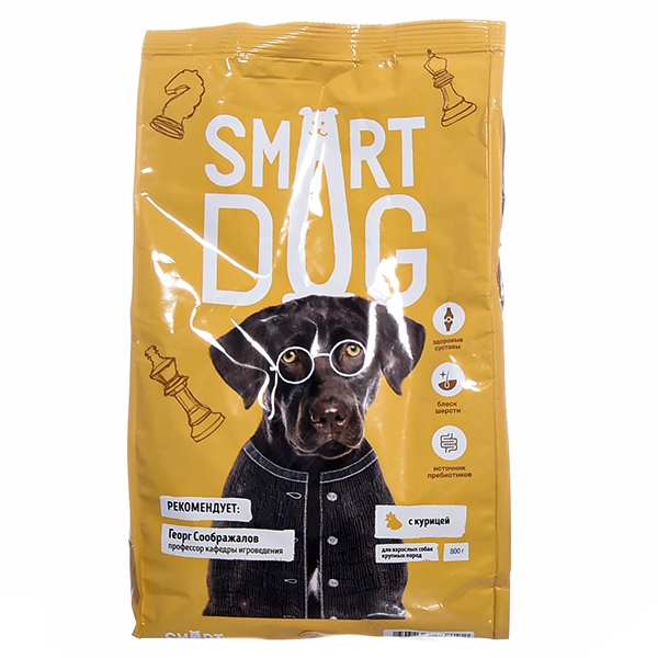 Сухой корм для собак крупных пород Smart Dog с курицей
