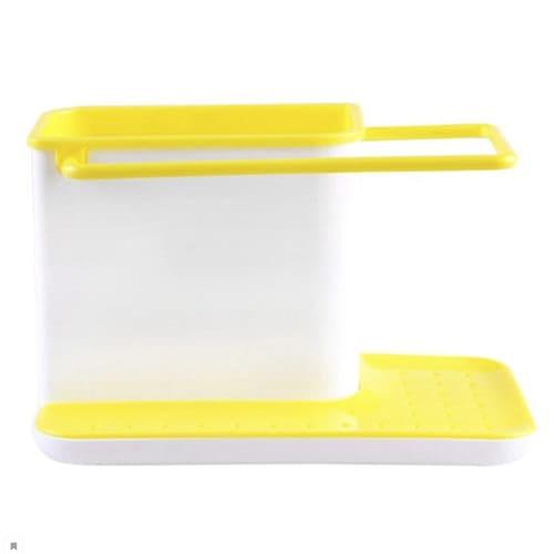 Органайзер для кухонных принадлежностей 3 в 1, цвет – жёлтый.