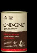 One&Only Beef in jelly Влажный корм для взрослых собак, с говядиной. 400гр.