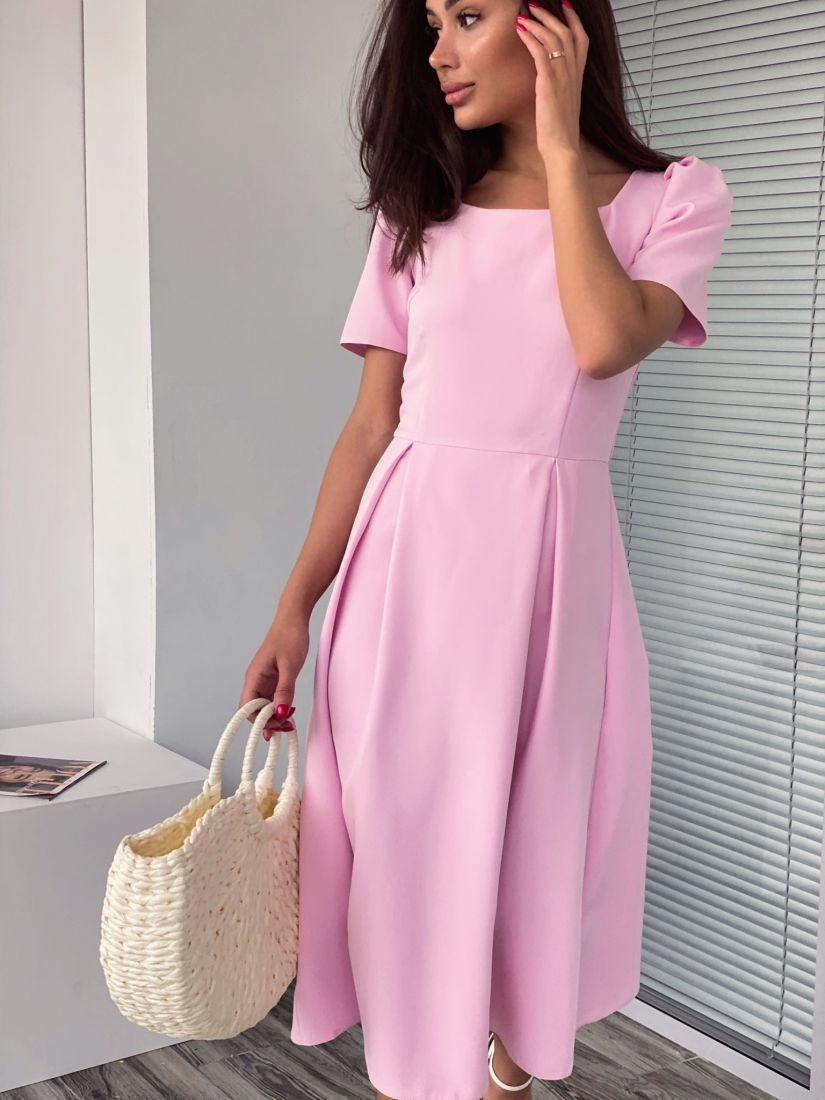 4220 Платье в ретро-стиле нежно-розовое
