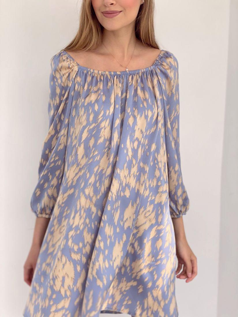 4223 Мини-платье с анималистичным принтом