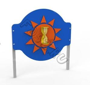 Игровой стенд «Песочные часы» Круг. (Металлические стойки) 330.04.01.01