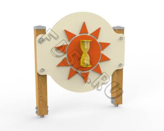 Игровой стенд «Песочные часы» Круг. (Стойки из бруса) 330.04.01