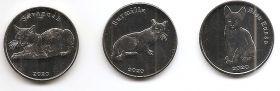 Кошки набор монет (3 монеты) 1 фунт  2020 Остров Строма