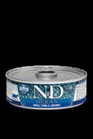 N&D CAT OCEAN TUNA&SHRIMP (Тунец с Креветками для кошек) 80г.