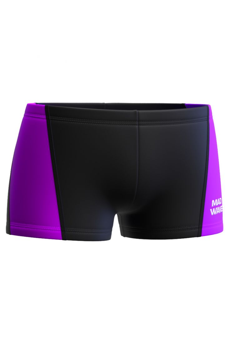 Плавки-шорты юниорские Mad Wave Splash Junior черно-фиолетовые
