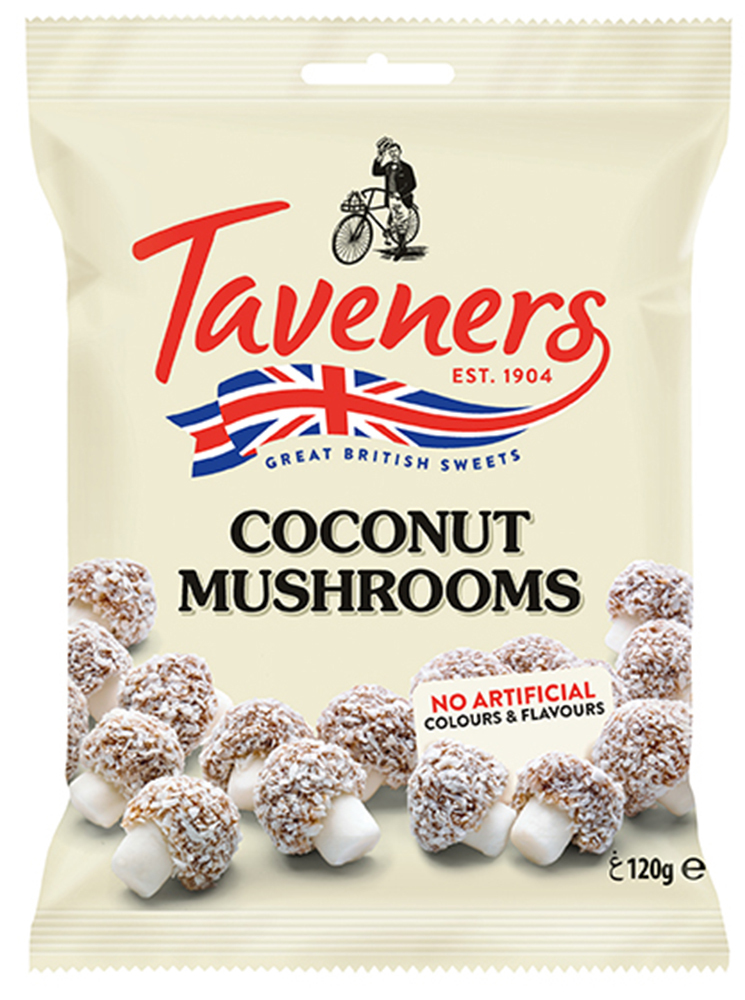 Мармелад Taveners (грибочки в кокосе) 120г