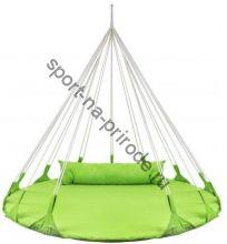 Качели-гнездо BabyGrad круглые с подушкой Милано 140 см зеленый