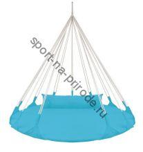 Качели-гнездо BabyGrad круглые с подушкой Милано 140 см синий