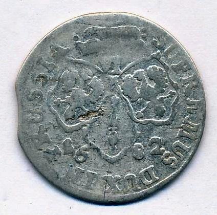 6 грошей 1682 Пруссия XF Германия
