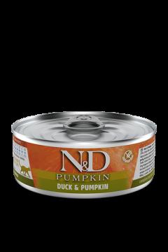 N&D CAT DUCK&PUMPKIN (Утка с Тыквой для кошек) 80г.
