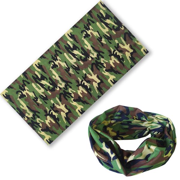 Бандана-трансформер камуфляж DPM зеленый