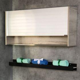 Шкаф подвесной Comforty  Клеон-120 белый/дуб дымчатый
