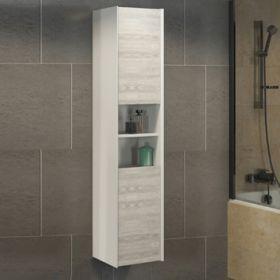 Шкаф-колонна Comforty  Женева-35 дуб белый