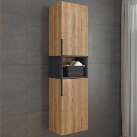 Шкаф-колонна Comforty   Штутгарт-40 дуб тёмно-коричневый