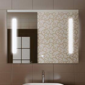 Зеркало Comforty Жасмин-85 светодиодная лента, сенсор 850*650 00004140520CF
