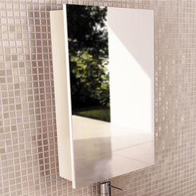Зеркало-шкаф Comforty Диана-50 белый глянец