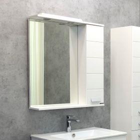 Зеркало-шкаф Comforty Модена М-75 белый матовый
