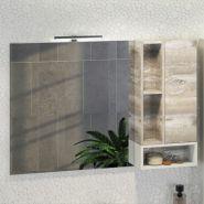 Зеркало-шкаф Comforty Турин-120 дуб бежевый