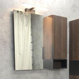 Зеркало-шкаф Comforty Франкфурт-75 дуб шоколадно-коричневый