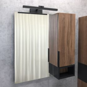 Зеркало-шкаф Comforty Штутгарт-75 дуб тёмно-коричневый
