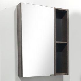 Зеркало-шкаф Comforty Франкфурт-60 дуб шоколадно-коричневый