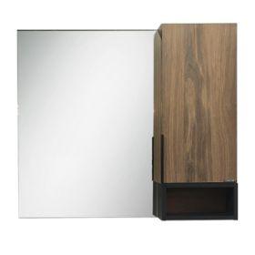 Зеркало-шкаф Comforty Штутгарт-90 дуб тёмно-коричневый