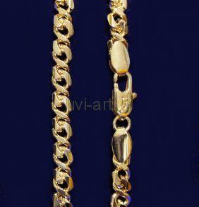 Позолоченный браслет с эффектом алмазной гравировки, 5 мм (арт. 2501752)