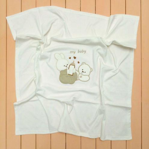 Плед молочный интерлок-жаккард V-PO009-ITj