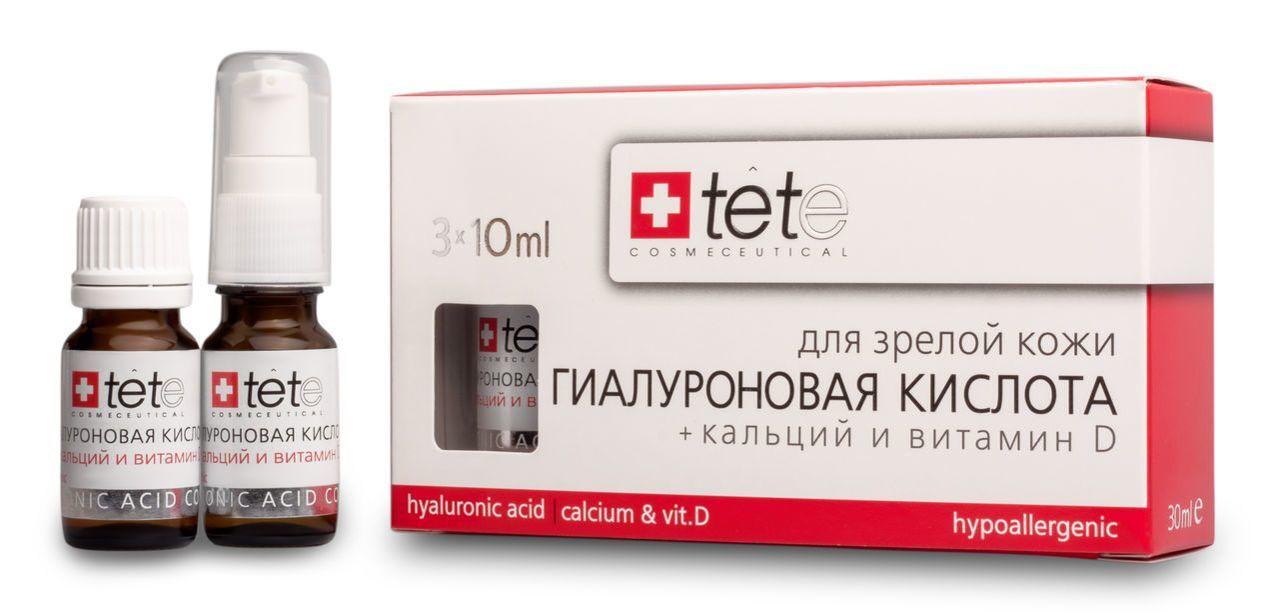 Гиалуроновая кислота и кальций и Витамин D Tete cosmeceutical (Тете косметик) 3*10 мл