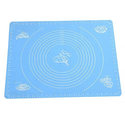 Силиконовый коврик для раскатывания теста, 65х45 см, цвет-голубой.