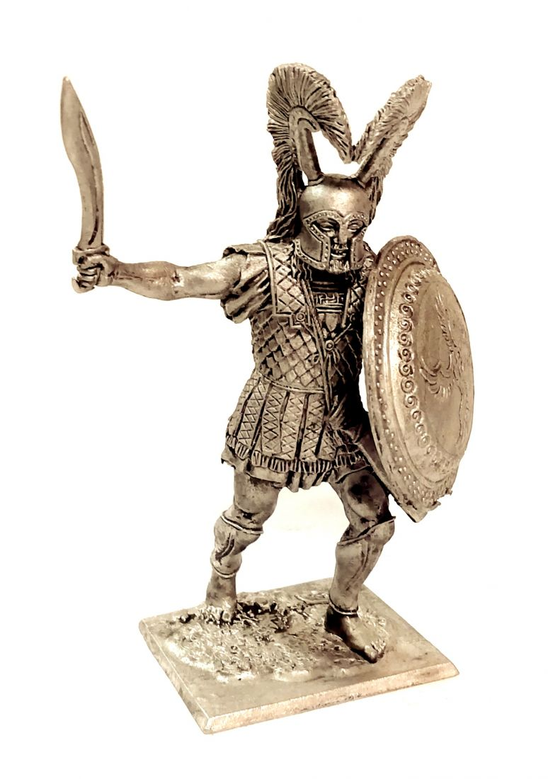 Фигурка Греческий гоплит 480 г. до н.э.. олово