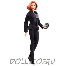 "Коллекционная кукла Барби Агент Дана Скалли ""Секретные материалы"" - Barbie The X Files Agent Dana Scully Doll"