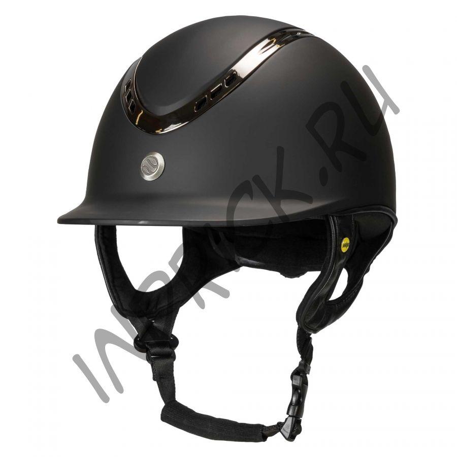 Шлем для верховой езды EQ3 Pardus Черный Топ (винтовая регулировка)