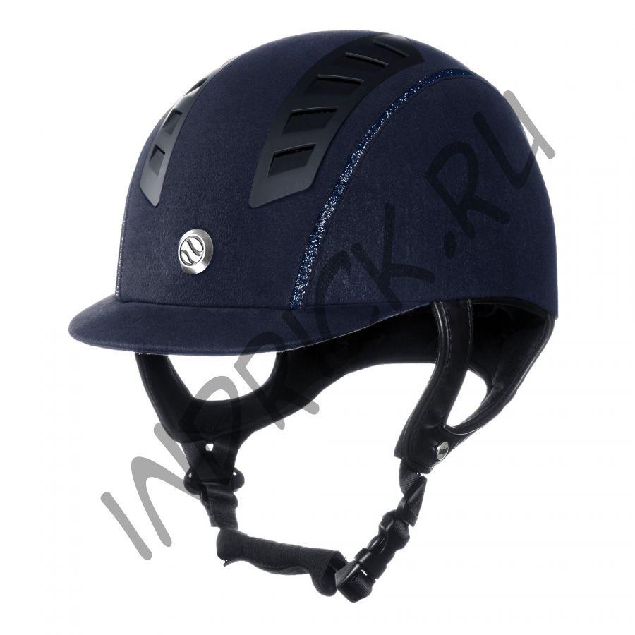 Шлем для верховой езды EQ3 Синяя Замша