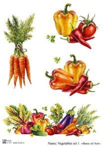 Vegetables set 1