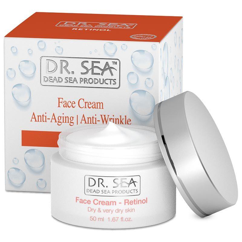 Интенсивный увлажняющий крем для лица с Ретинолом для нормальной и сухой кожи Dr.Sea ( Доктор Си) 50мл