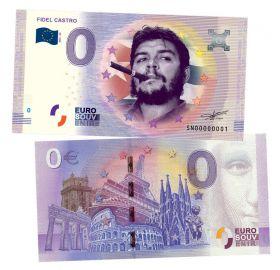 0 ЕВРО - Фидель Кастро (Fidel Castro). Памятная банкнота