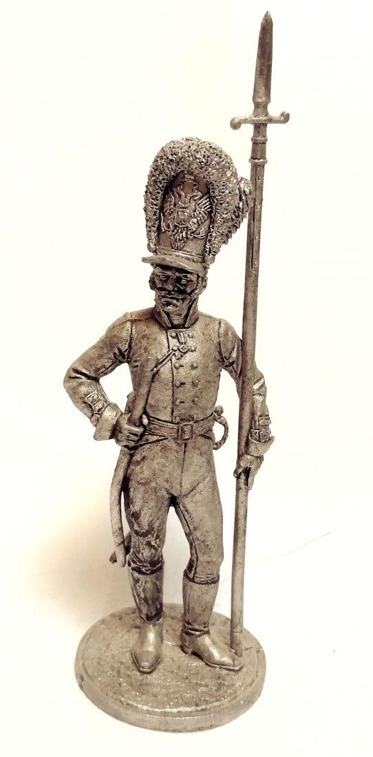 Фигурка Унтер-офицер Лейб-гвардии Преображенского полка. Россия, 1802-06 гг. олово