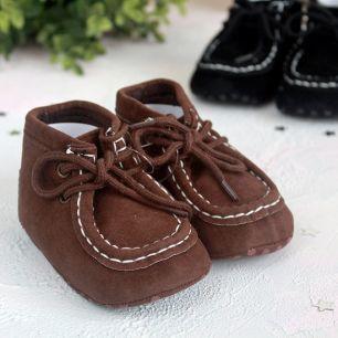Ботиночки коричневые 11 см