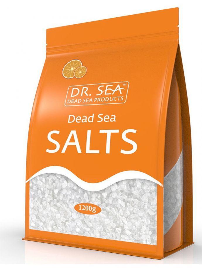 Соль Мертвого моря с экстрактом апельсина Dr.Sea (Доктор Сиа) (пакет 1200г)