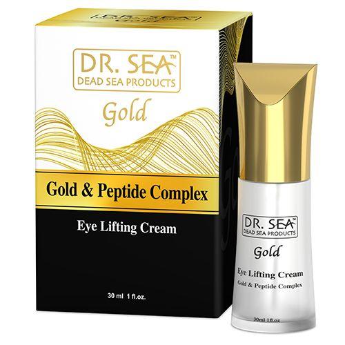 Лифтинг крем для кожи вокруг глаз с золотом и пептидным комплексом Dr.Sea  (доктор Сиа) 30мл