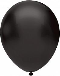 Шар (10''/25 см) Черный , пастель, 100 шт.