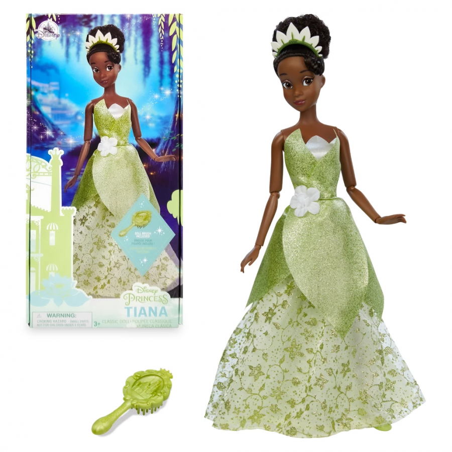 Кукла принцесса Тиана в зеленом платье Дисней 2021