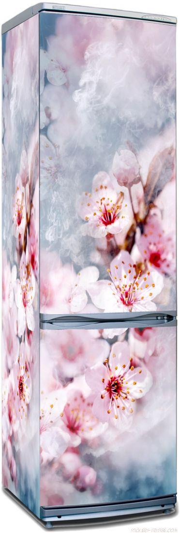 Наклейка на холодильник - Воздух пропитан нежностью