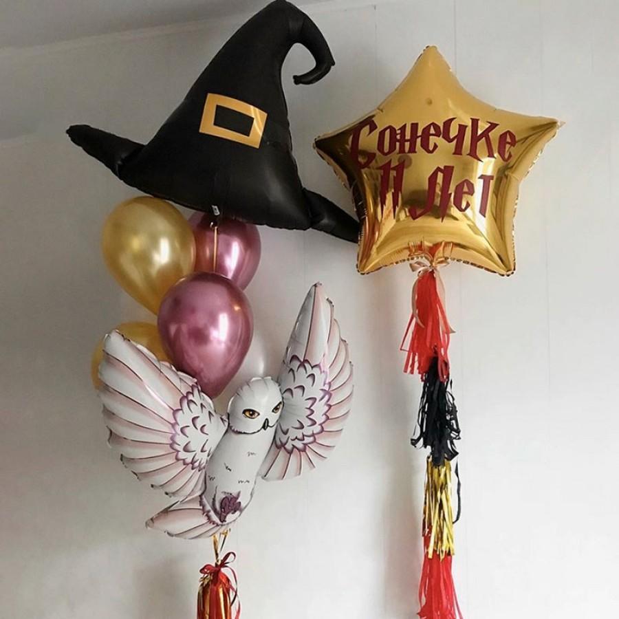 Набор волшебный с шляпой, совой и вашей надписью на звезде
