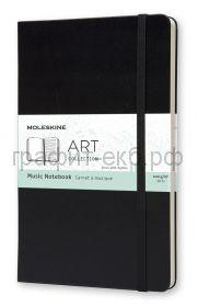 Книжка зап.Moleskine Large ART MUSIC NOTEBOOK черная ARTQP081