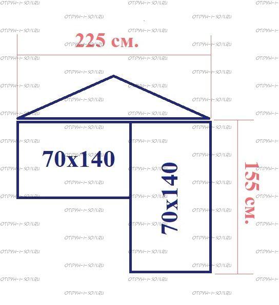Схемы с размерами домиков угловых