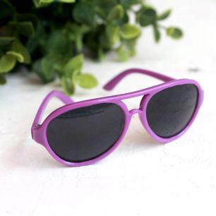 Кукольный аксессуар - очки солнцезащитные, фиолетовые 8 см.