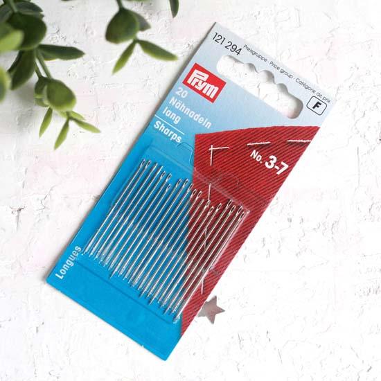 PRYM Иглы ручные для шитья с тонким острием № 3-7, уп. 20 шт.